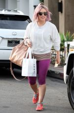 Hilary Duff At A Salon In West Hollywood