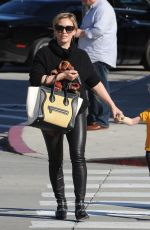 Hilary Duff In Leather Pants Out In West Hollywood