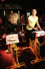 Hilary Duff & Lea Michele At SoulCycle x Target Launch Event In NY