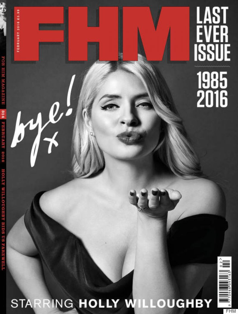 Holly Willoughby In FHM Magazine February 2016
