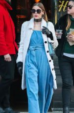 Jaime King Leaving The Bowery Hotel In NYC