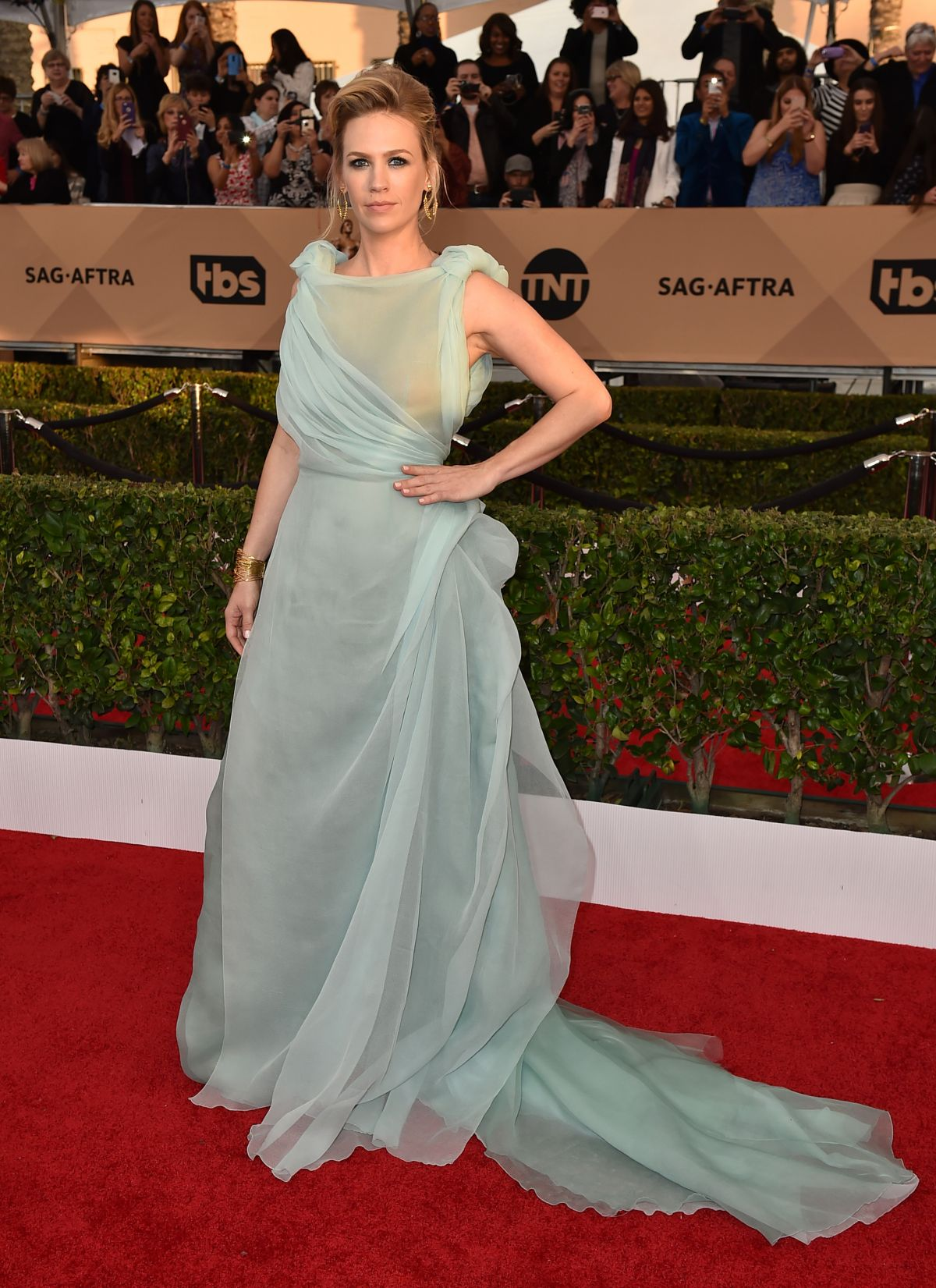 January Jones At 22nd Annual Screen Actors Guild Awards In Los Angeles