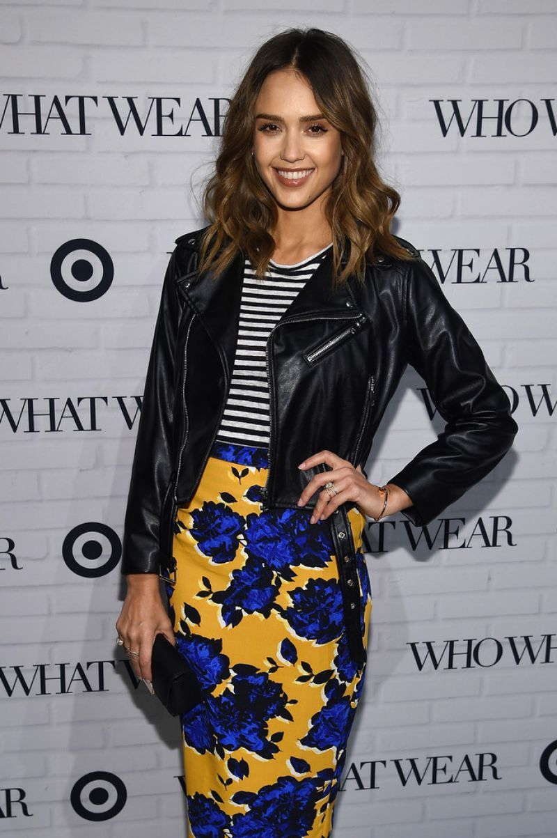 Jessica Alba At Who What Wear x Target Launch Party In NYC