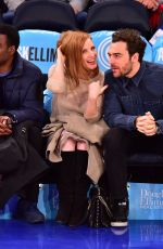 Jessica Chastain At Hawks Knicks Game In New York City