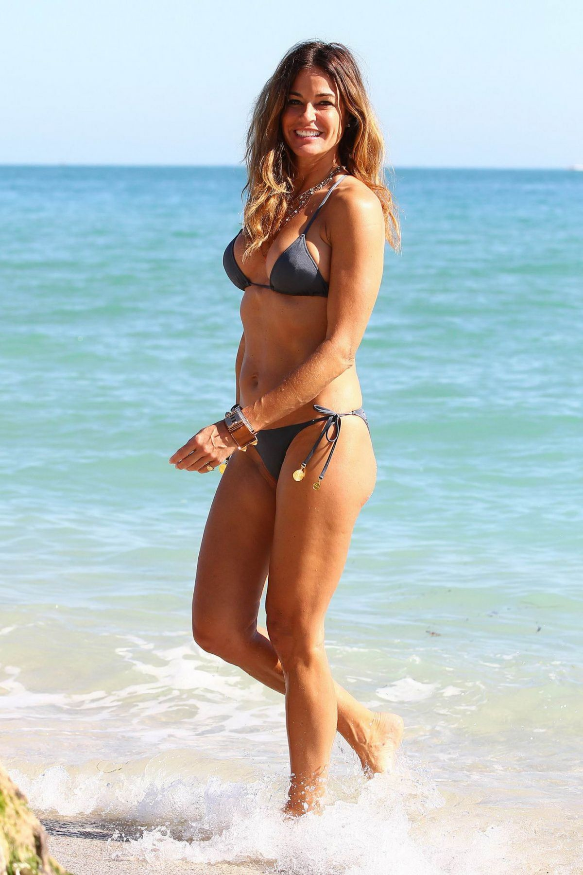 Kelly Bensimon in White Bikini in Miami Pic 26 of 35