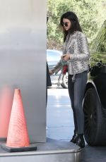 Kendall Jenner Pumping Gas In LA