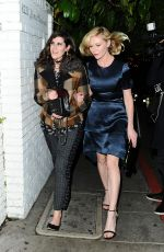 Kirsten Dunst Arrives To The W Magazine Golden Globe Party