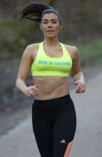 Kym Marsh Out Jogging In Manchester
