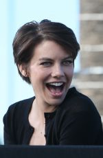 Lauren Cohan On The Set Of
