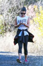 Lea Michele At Coldwater Canyon Park