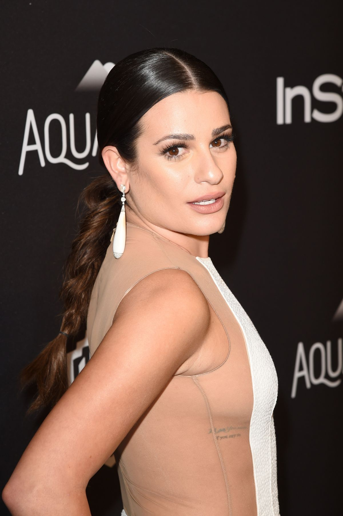 Lea Michele At InStyle And Warner Bros. Golden Globe Awards Post-Party