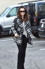 Lily Collins Leaving An Office In LA