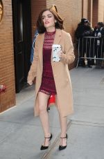 "Lucy Hale Arriving At ""The View"" In NYC"