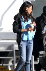 Mila Kunis On Set Of 'Bad Moms' In New Orleans