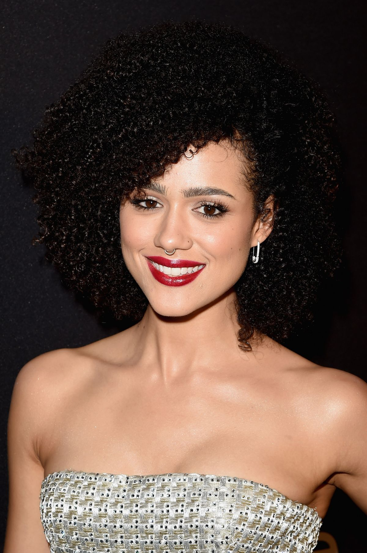 Nathalie Emmanuel At InStyle and Warner Bros. 73rd Annual Golden Globe Awards Post-Party