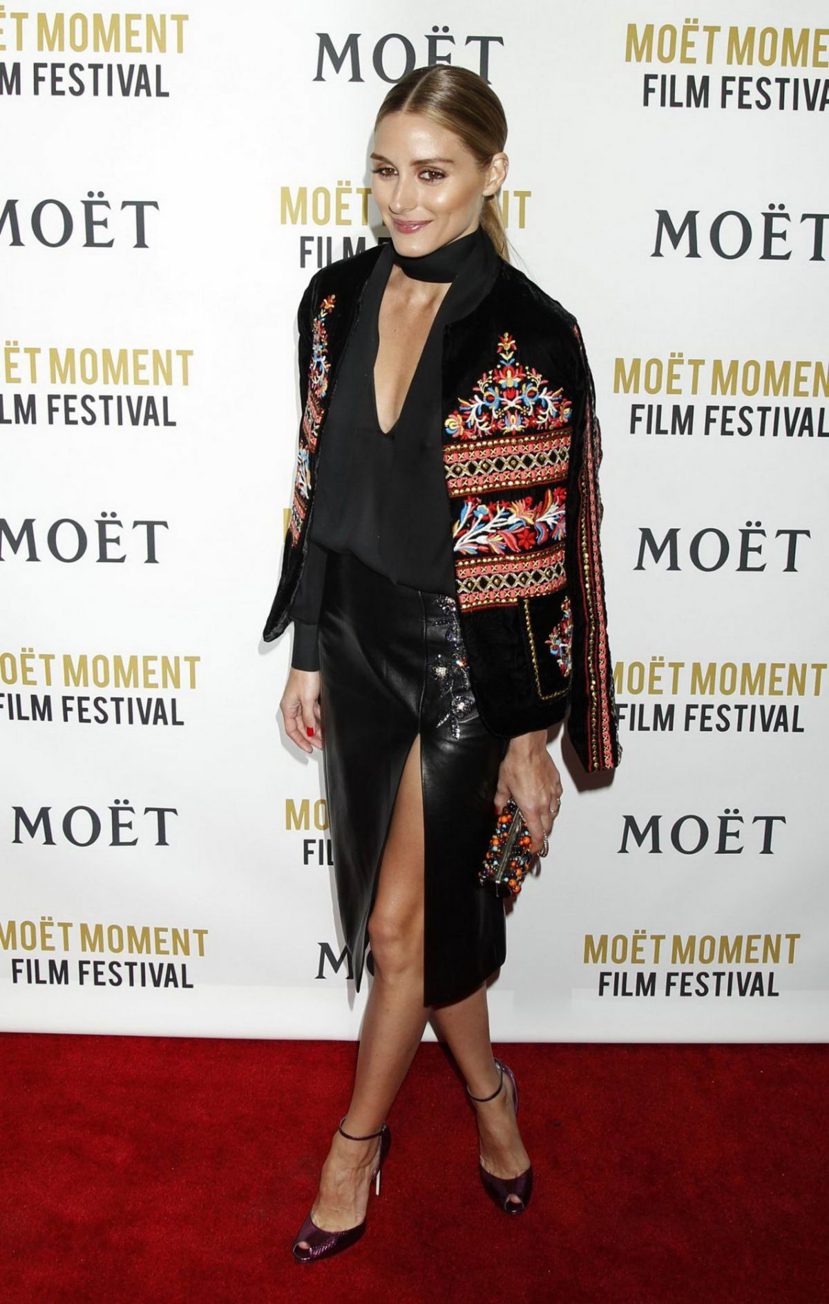 Olivia Palermo At Moet & Chandon celebration of The Golden Globes In West Hollywood