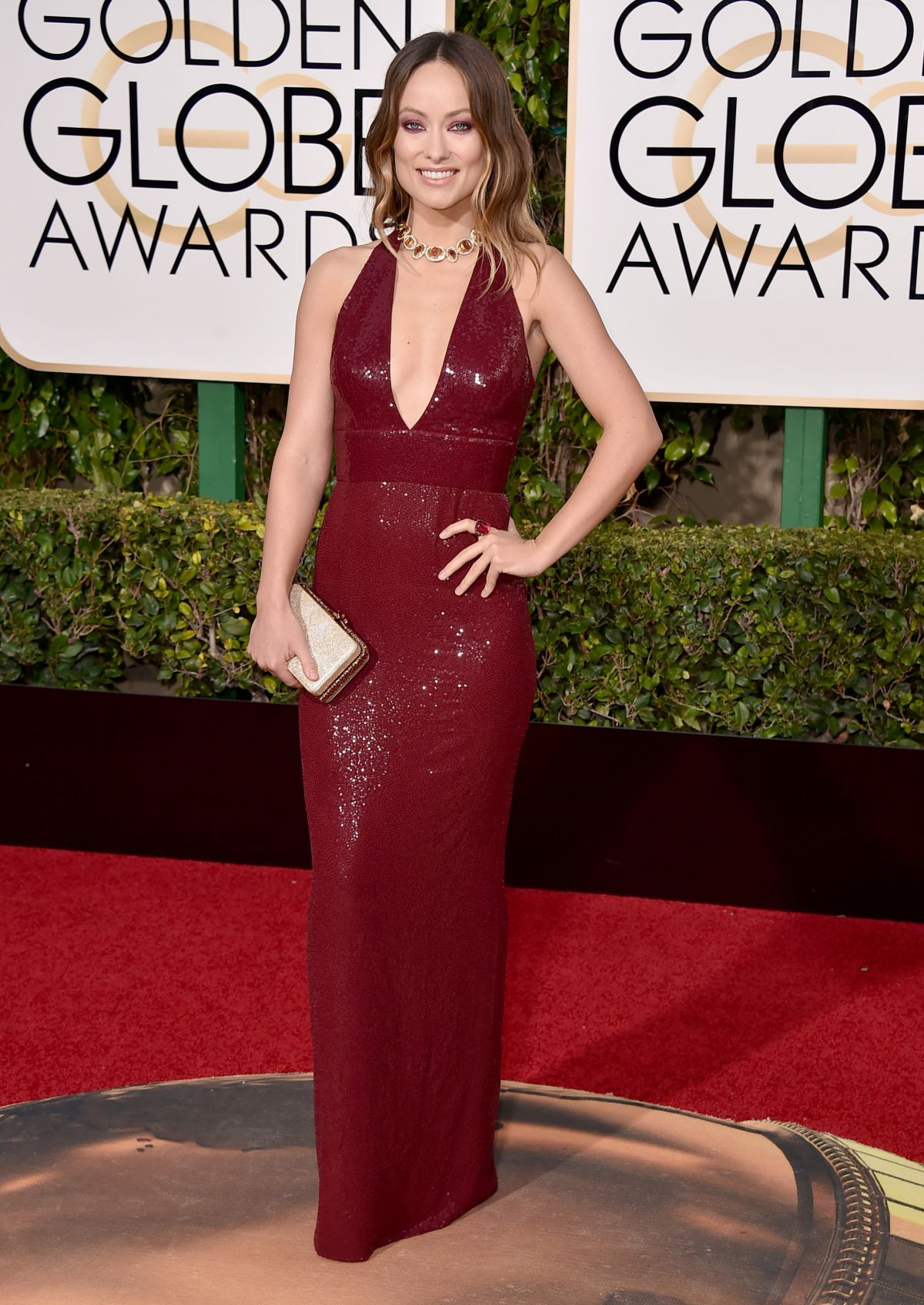 Olivia Wilde At 73rd Annual Golden Globe Awards In Beverly Hills