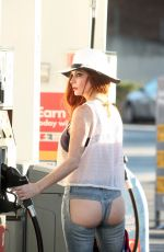Phoebe Price At The Gas Station In A Pair Of Backless Xpoz Jeans In Studio City