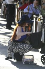 Phoebe Price Waiting For Her Car In Beverly Hills