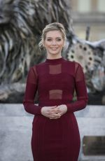 Rachel Riley Unveils Fifth Lion Statue At Trafalgar Square In London