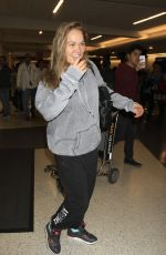 Ronda Rousey Dressed In Sweats For Her Flight Out Of Los Angeles