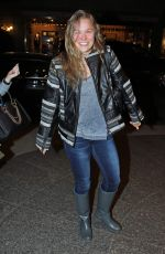 Ronda Rousey Returns Back To Her Hotel After Rehearsal For Saturday Night Live In NYC