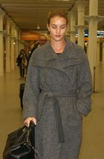 Rosie Huntington-Whiteley At The St Pancras Train Station In London