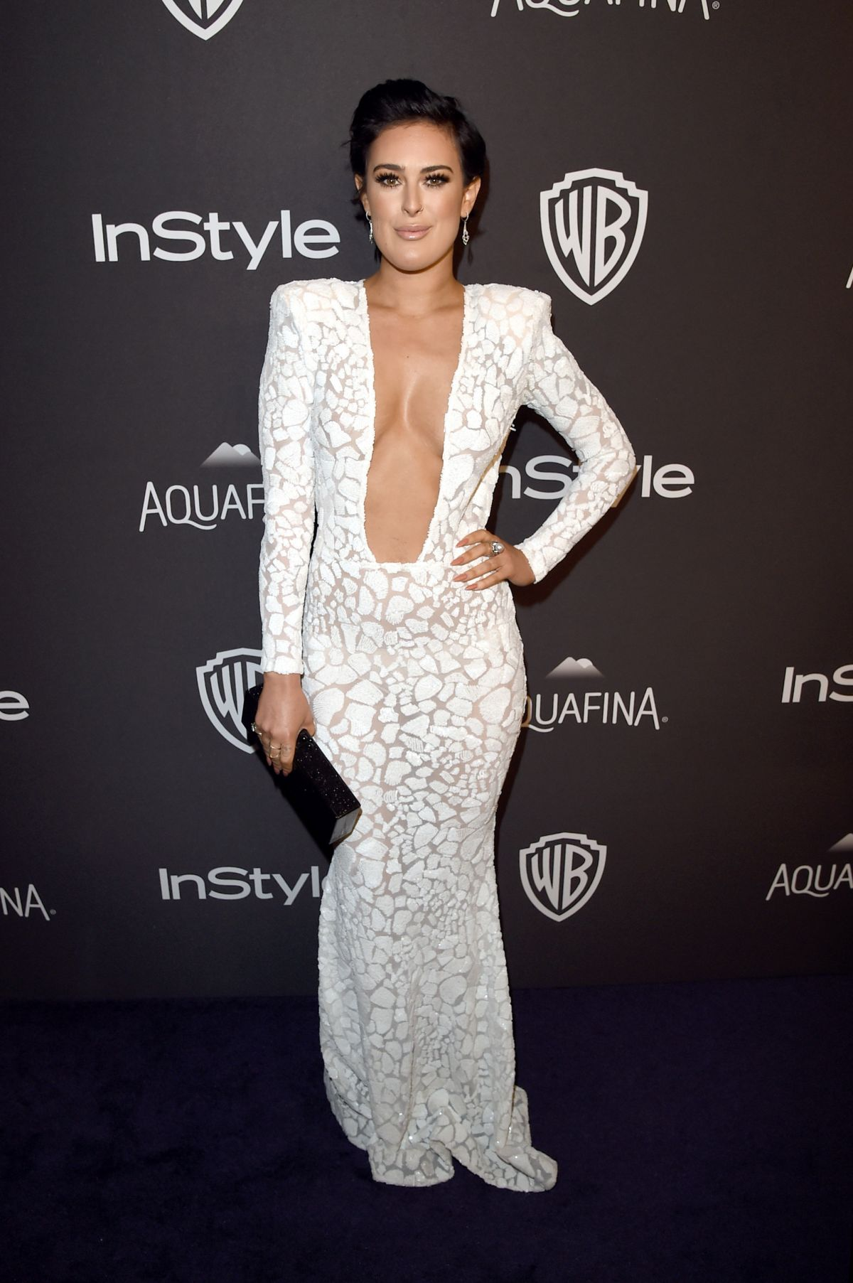 Rumer Willis At InStyle And Warner Bros. Golden Globe Awards Post-Party