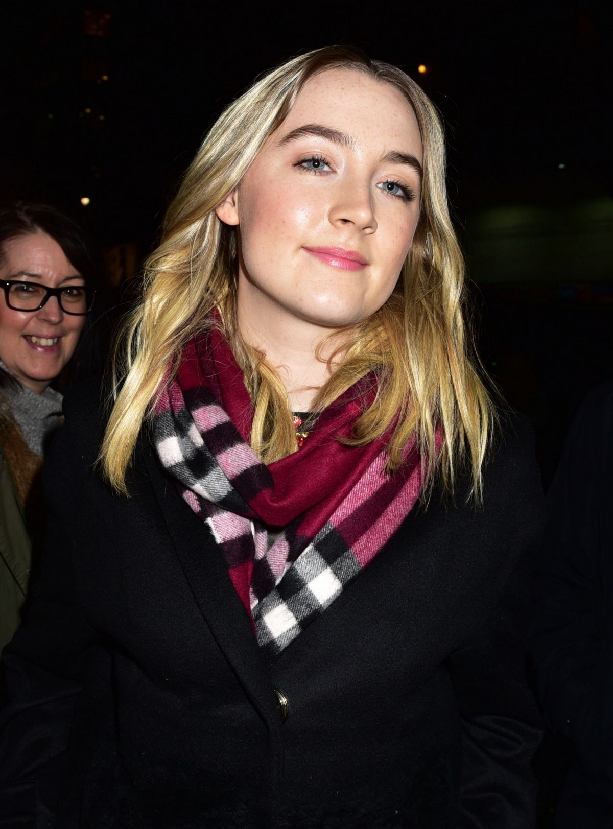 Saoirse Ronan Arriving At The Late Show In NYC