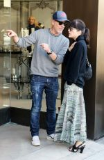 Selma Blair With A Male Friend In West Hollywood