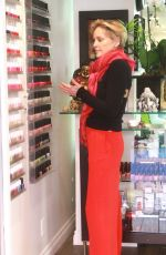Sharon Stone Seen At A Nail Salon In Beverly Hills