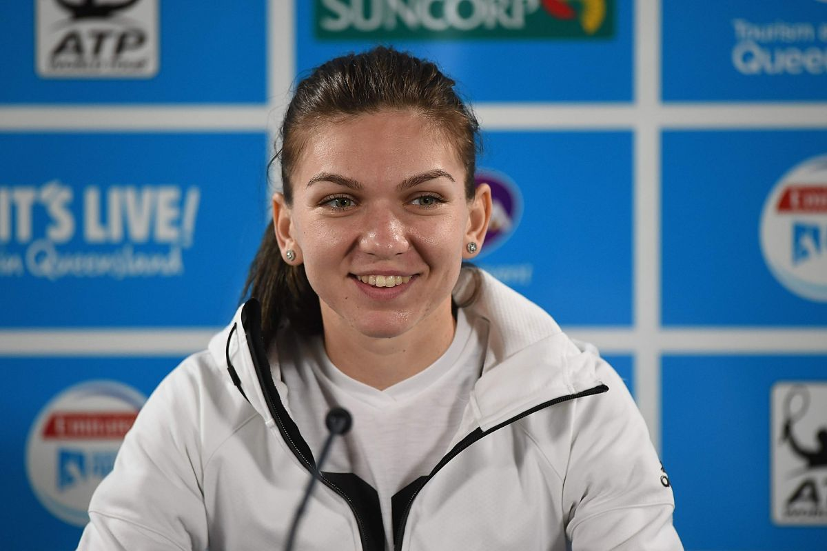 Simona Halep At Press Conference At 2016 Brisbane International