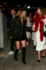 Suki and Immy Waterhouse At BOA Steakhouse In West Hollywood
