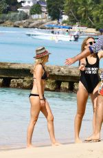 Tallia Storm Pictured At The Beach While On Holiday In Barbados