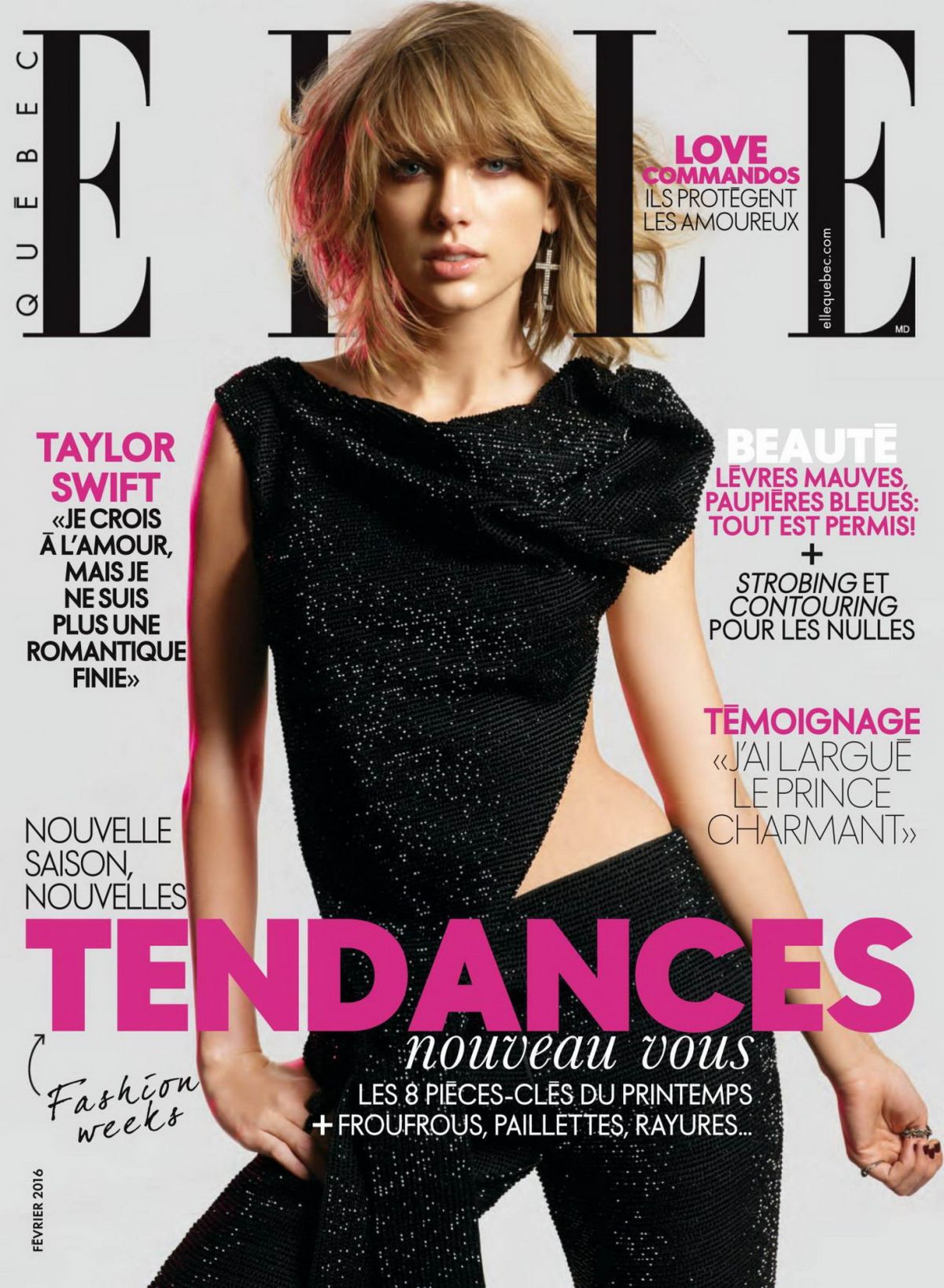 Taylor Swift In ELLE Magazine Quebec February 2016