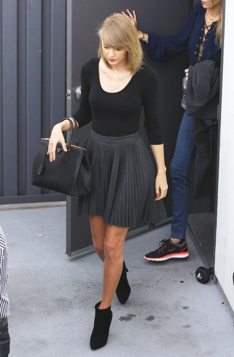 Taylor Swift Leaving The Gym In LA