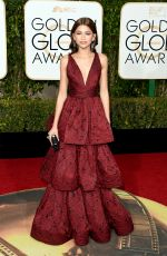 Zendaya At 73rd Annual Golden Globe Awards In Beverly Hills