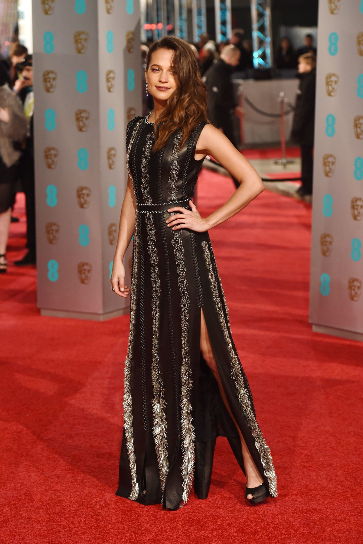 Alicia Vikander At EE British Academy Film Awards In London