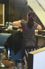 Ariel Winter At Rudys Barbershop In LA