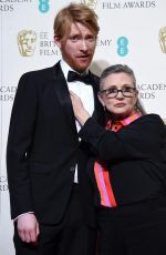 Carrie Fisher At EE British Academy Film Awards At The Royal Opera House
