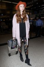 Lily Cole At LAX