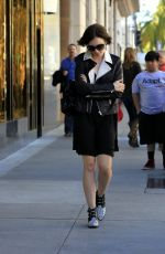 Lily Collins Shopping In Beverly Hills