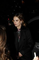 Lily James At Bounce Restaurant In London