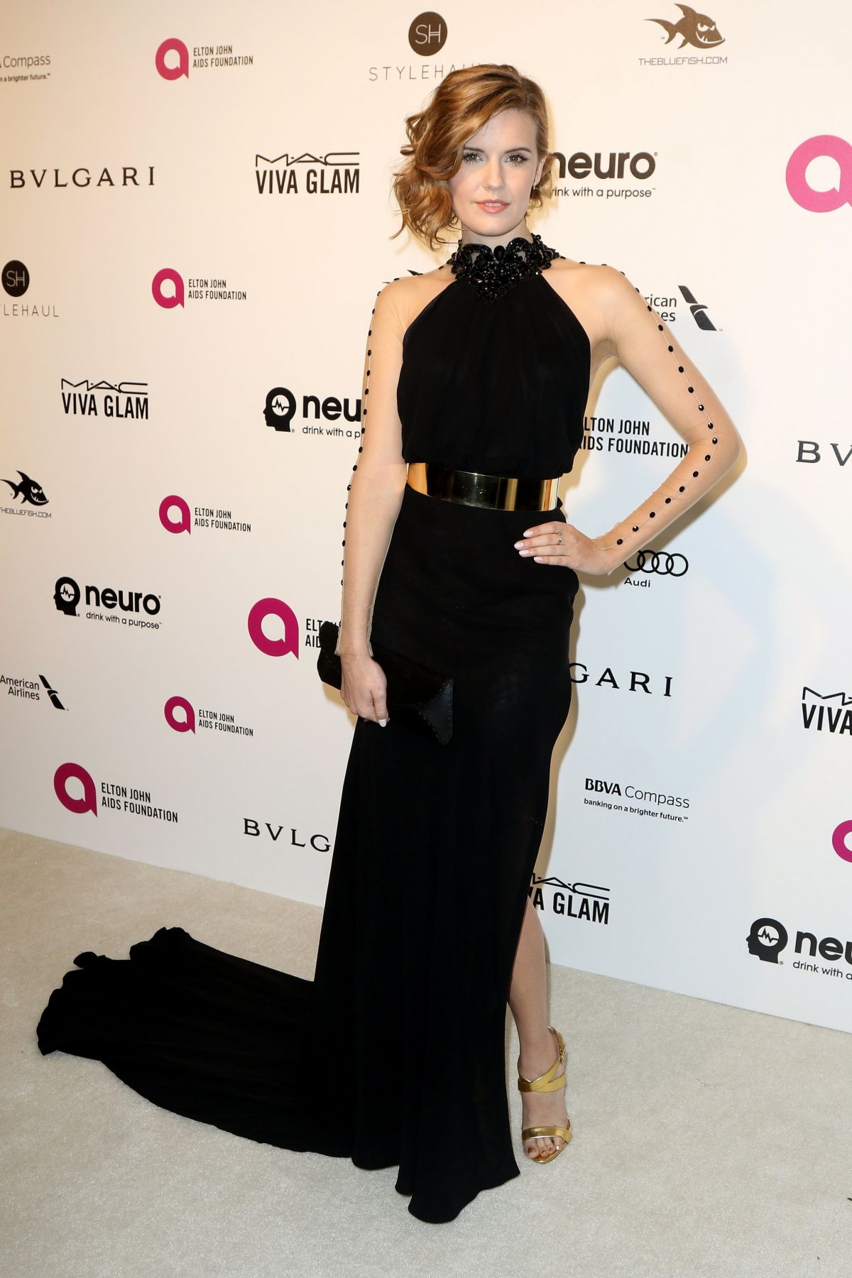 Maggie Grace At 24th Annual Elton John AIDS Foundation