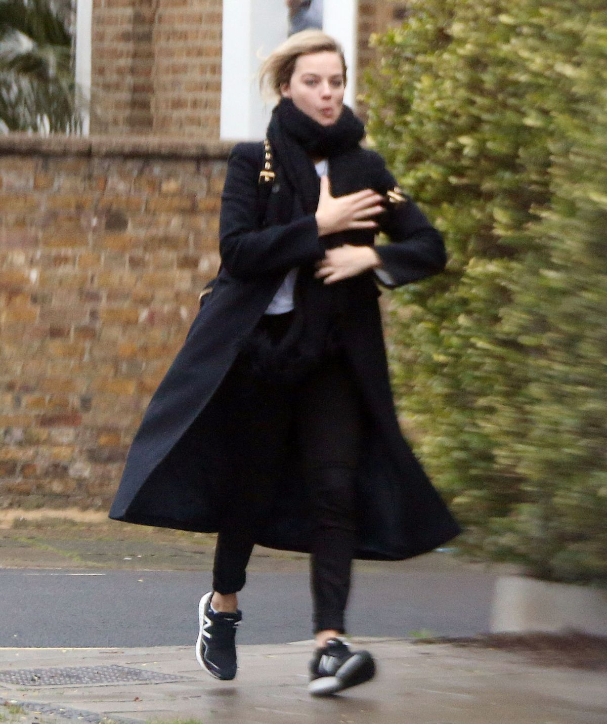Margot Robbie Out In London