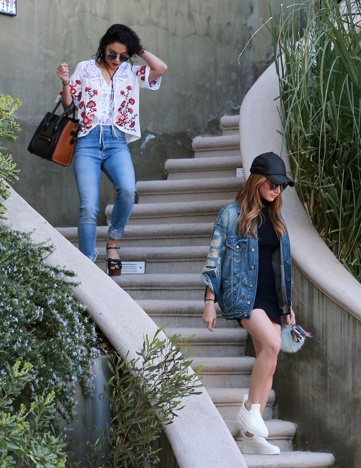 Vanessa Hudgens and Ashley Tisdale At Vanessa's House In ...
