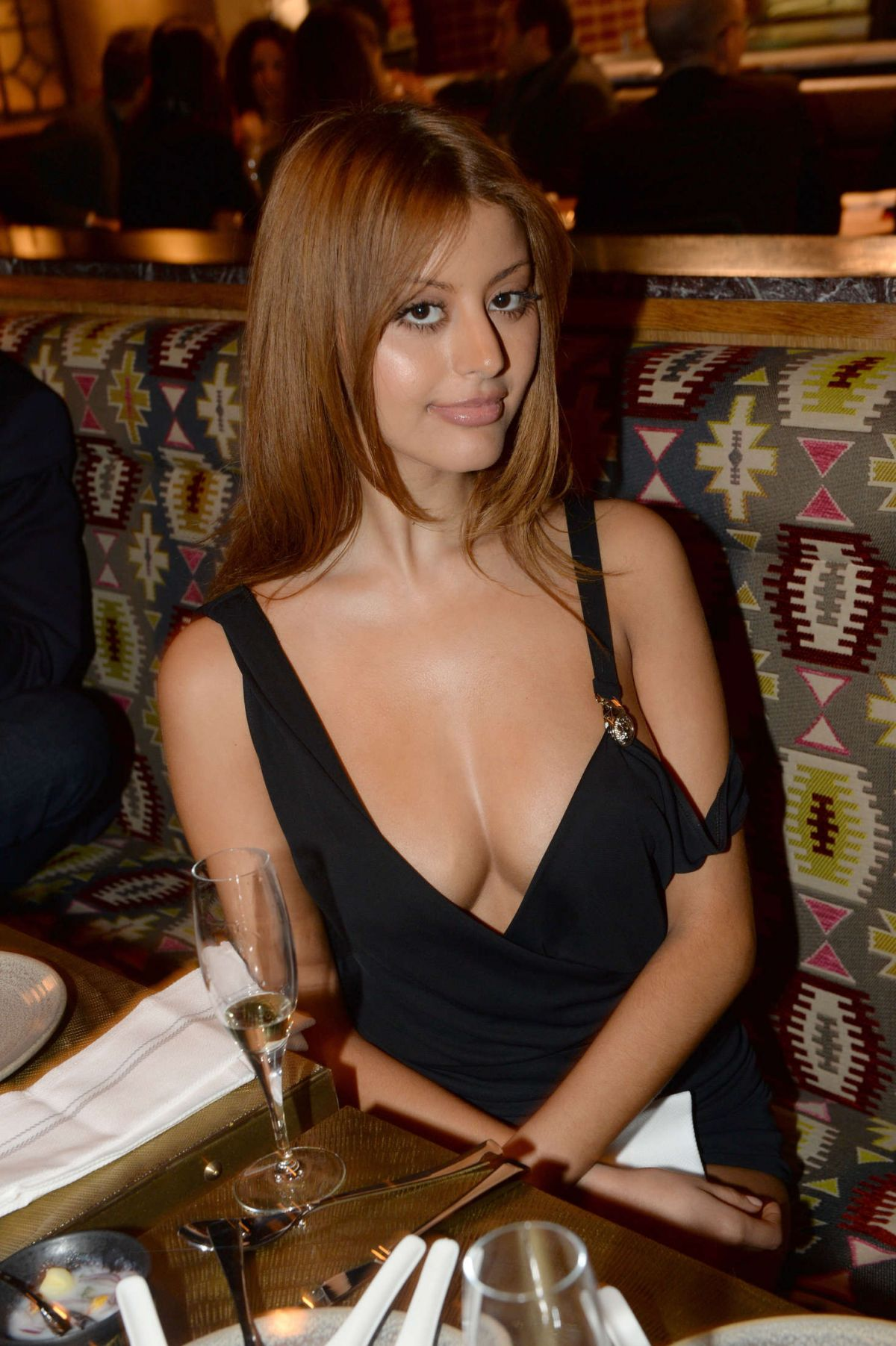 zahia dehar at opening of peruvian restaurant manko in. Black Bedroom Furniture Sets. Home Design Ideas