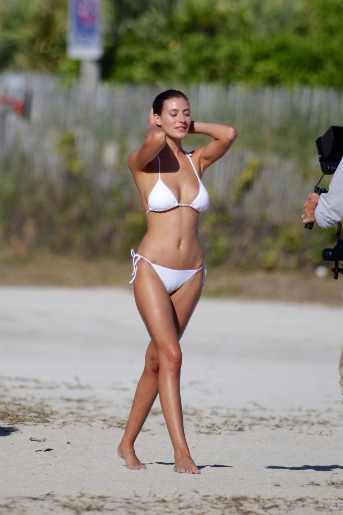 Alejandra Guilmant On The Set Of 2017 Wurth Calendar Photoshoot In Miami