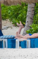 Catherine Zeta-Jones In A Swimsuit As She Relaxes On The Beach In Cancun