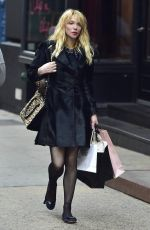 Courtney Love Shopping At Agent Provocateur In New York